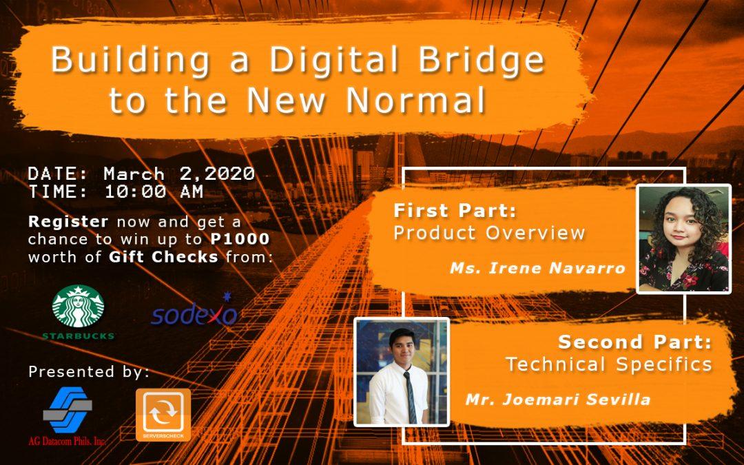 Building a Digital Bridge to the New Normal – ServersCheck Webinar