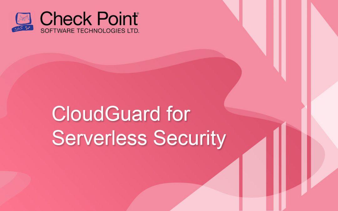 CloudGuard for Serverless Security